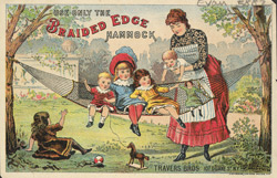 Advert for Travers Brothers, hammock manufacturers